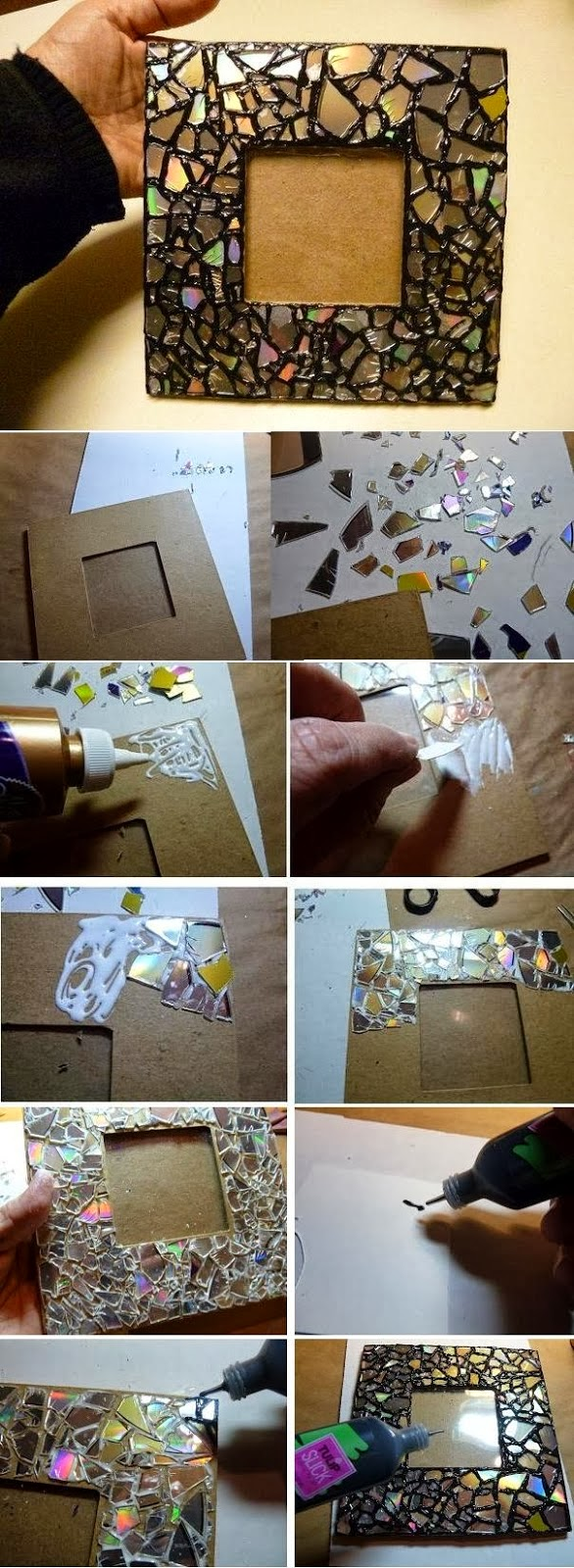 Pro Diy Tips Make Mosaic Mirror Frame By Old Cd