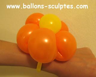 bracelet fleur en ballons