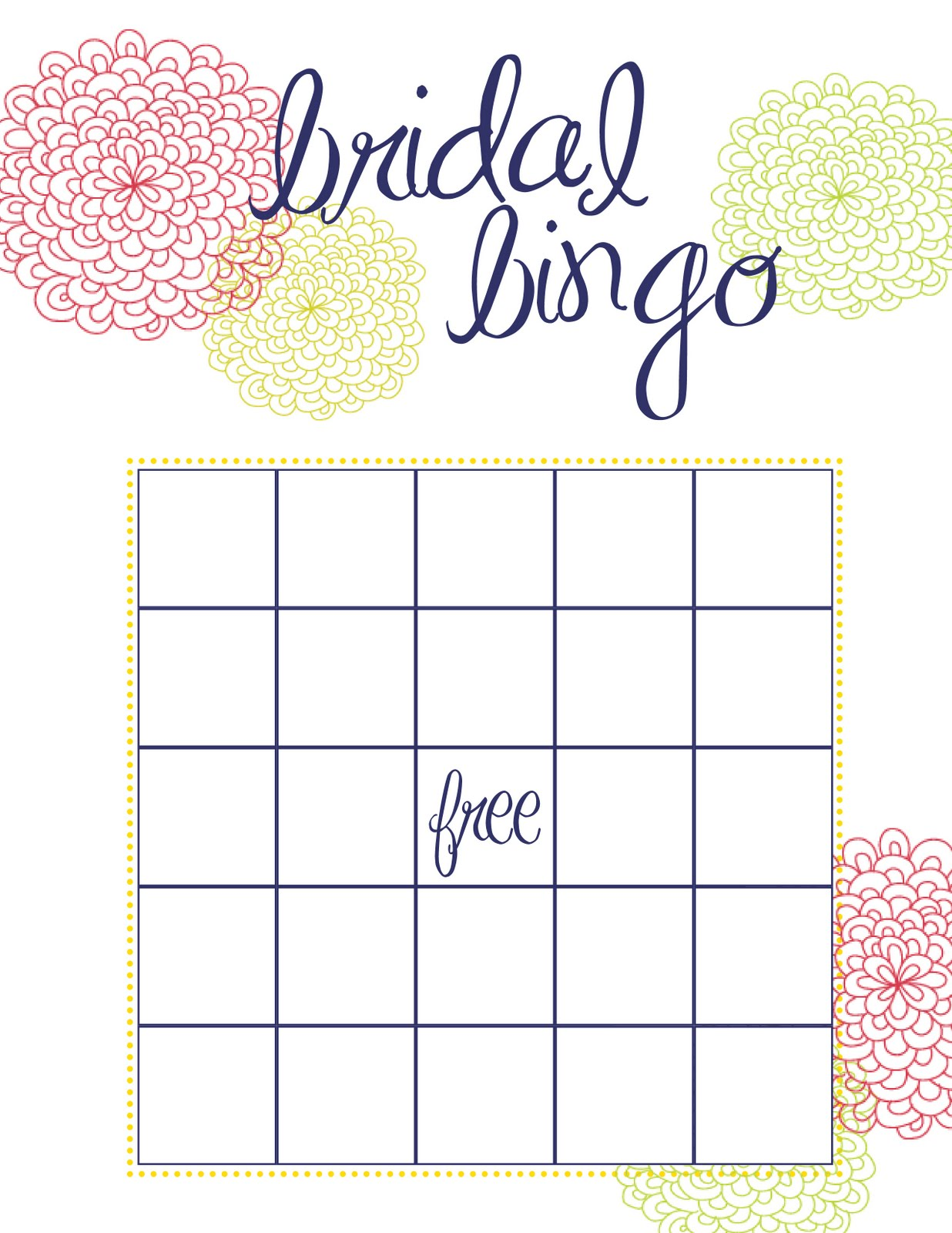 graphic about Free Printable Bridal Bingo named Bridal Bingo Totally free Template Pattern Client Company Resume