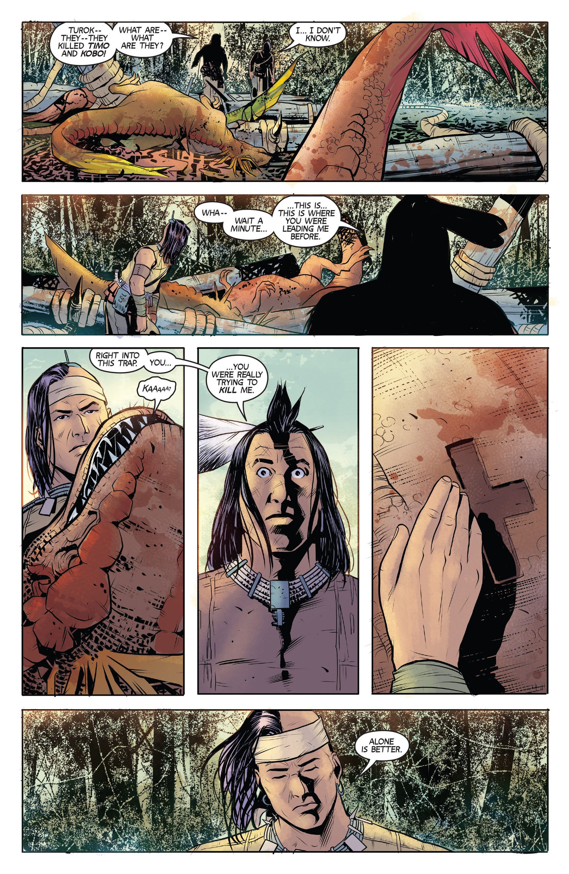Read online Turok: Dinosaur Hunter (2014) comic -  Issue #1 - 21