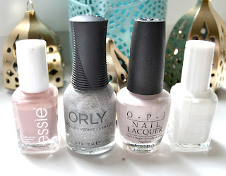 Essie Lady Like Blanc OPI Dont bossanova me around orly mirrorball