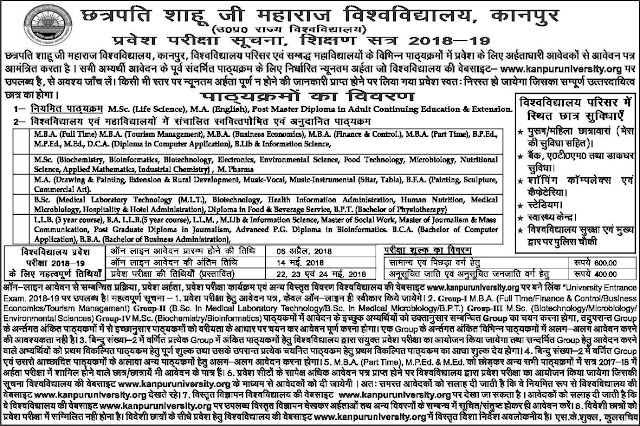Kanpur University Admission