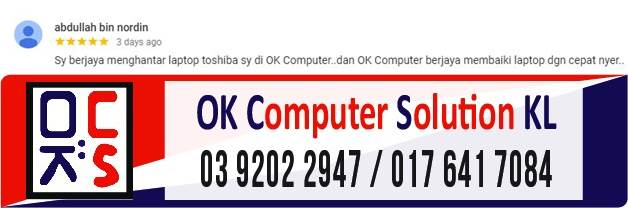 [SOLVED] MASALAH NO DISPLAY LAPTOP TOSHIBA | REPAIR LAPTOP AMPANG 8