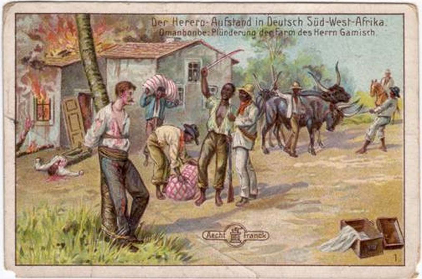 "Another postcard from the ""Herero-rebellion in German-Southwest-Africa."""