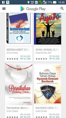 Buku Karya Arda Dinata di Google Play Book