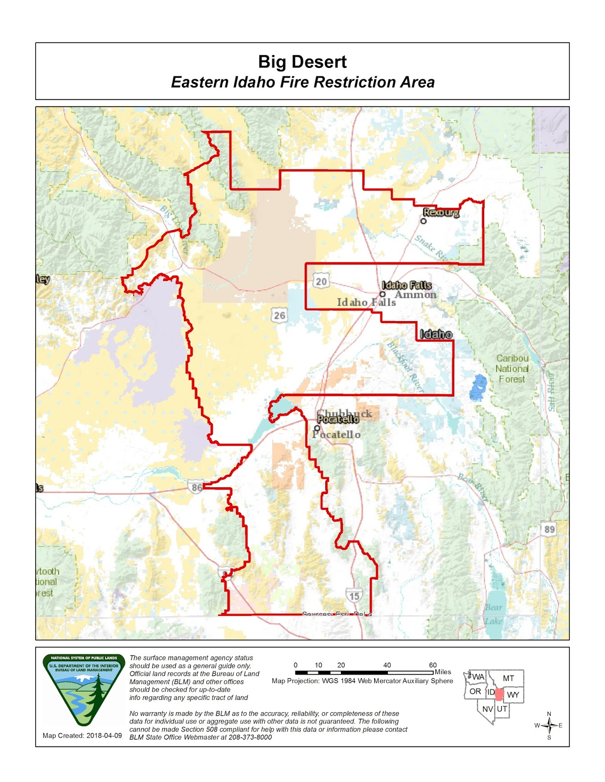 Idaho Fire Information Eastern Idaho Fire Restriction Area