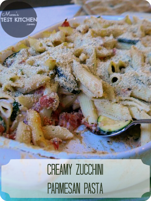 Mom's Test Kitchen: Creamy Zucchini Parmesan Pasta