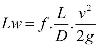 Equação de Darcy-Weisbach – Cálculo da Perda de Carga