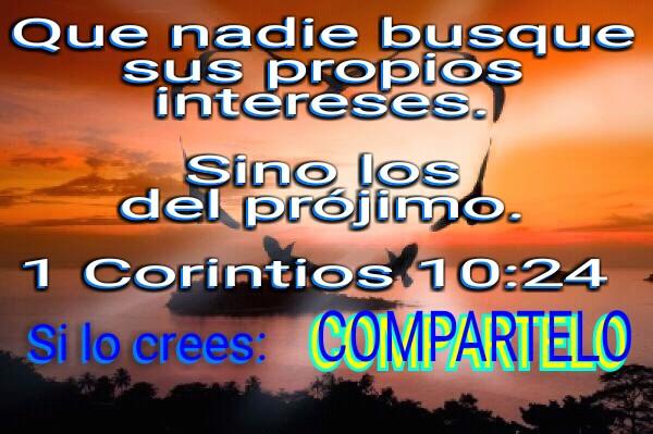 Que nadie busque sus propios intereses-1 corintios 10-24