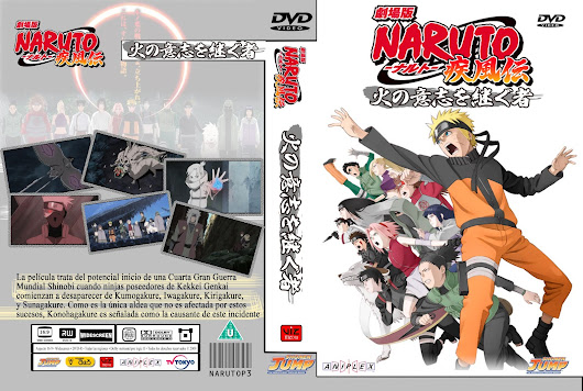 Naruto Shippuden Movie 3 Los herederos de la voluntad de fuego Audio Japones Sub Latino e Ingles Calidad 720p bluray - rip