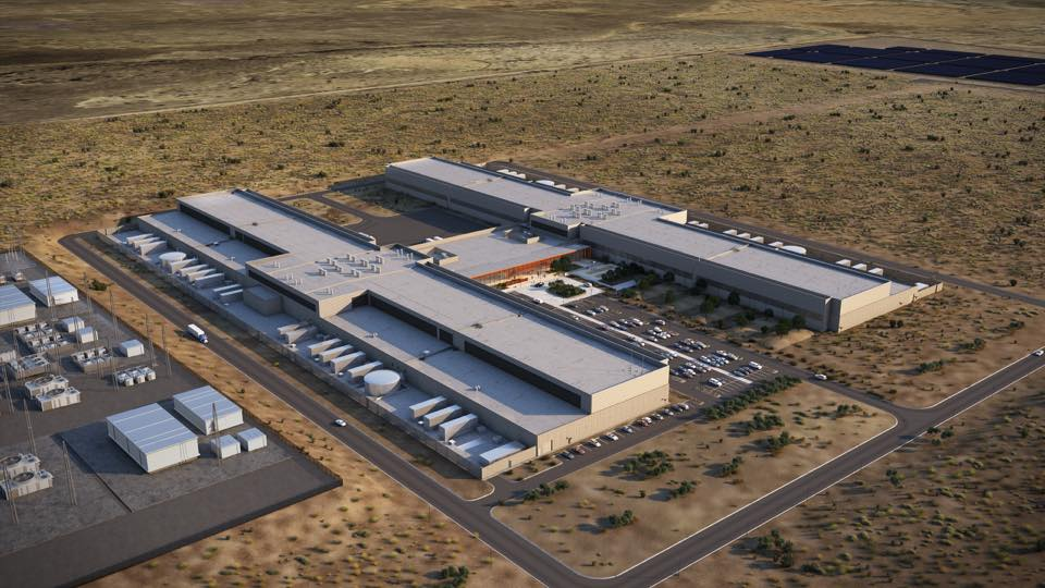 Facebook's Data Center Expanded in Los Lunas, New Mexico