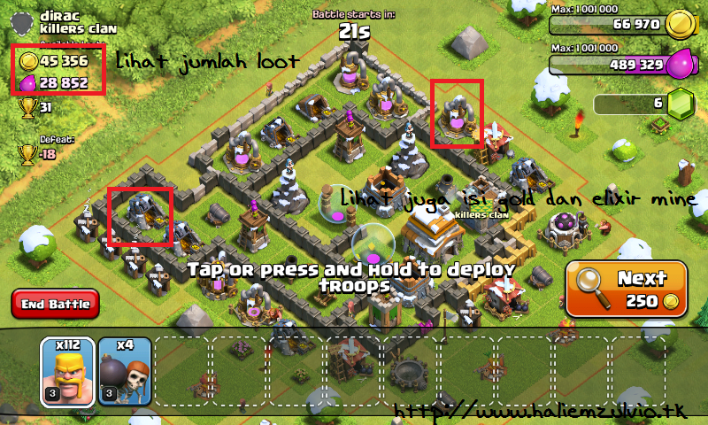 Tips Dapat Banyak Loot Di Clash Of Clans