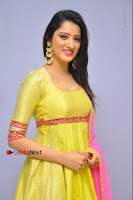 Actress Richa Panai Latest Pos in Yellow Anarkal Dress at Rakshaka Bhatudu Telugu Movie Audio Launch Event  0001.JPG