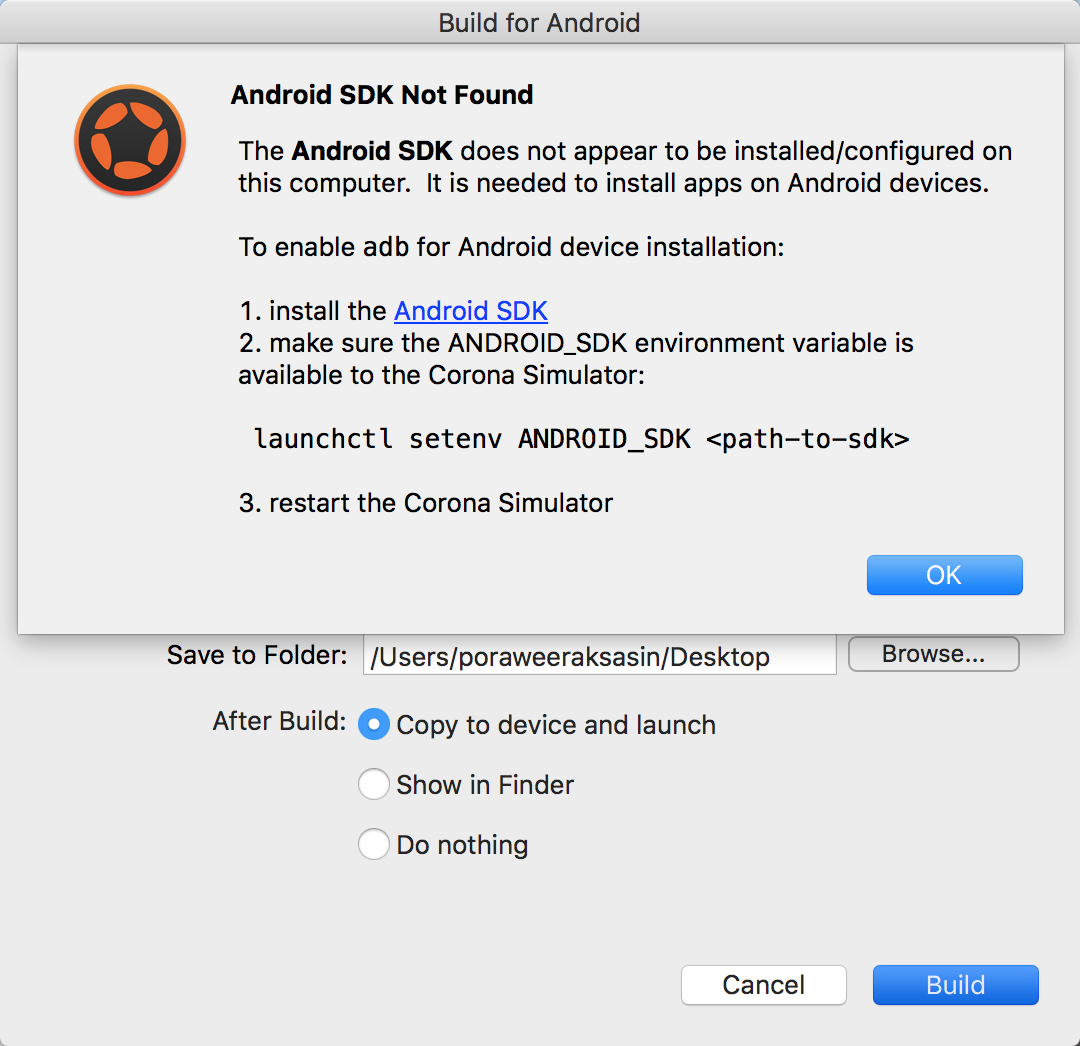 GAME DEV TO DIED: Corona SDK : Getting start for Android