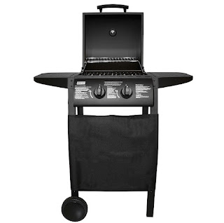 price under £80 Charles Bentley Deluxe 2 Burner Gas Bbq Steel Barbecue Black £62.99