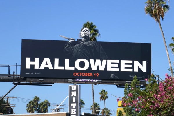 Halloween film billboard
