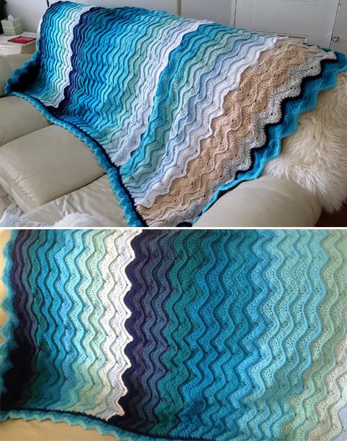 Ocean Waves Throw - Free Pattern