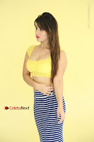 Cute Telugu Actress Shunaya Solanki High Definition Spicy Pos in Yellow Top and Skirt  0087.JPG