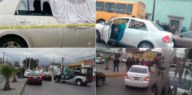 Video: Comando de sicarios persigue patrulla y ejecuta a 3 Ministeriales en San Luis Potosí