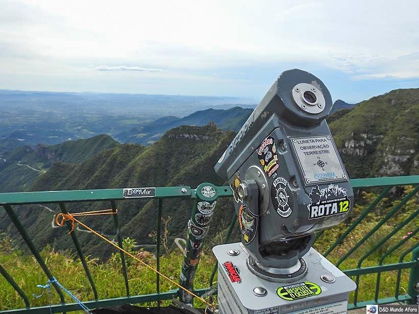 Um dia na Serra do Rio do Rastro em Santa Catarina - Mirante principal