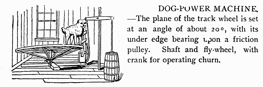 a 1901 dog-powered machine, illustration