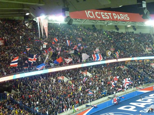virage auteuil lors de PSG Lyon