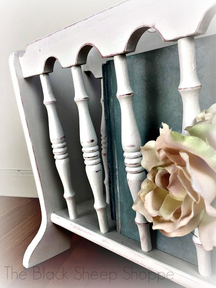 shabby chic magazine rack paying it forward. Black Bedroom Furniture Sets. Home Design Ideas