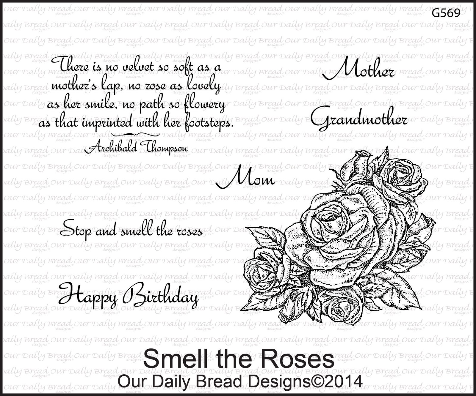 Stamps - Our Daily Bread Designs Smell the Roses