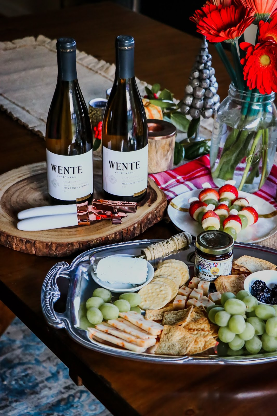 holiday survival guide, holiday entertaining, hostess with the mostess, DC blogger, wente wine, make time, bar cart, charcuterie board, cheese love, myriad musings