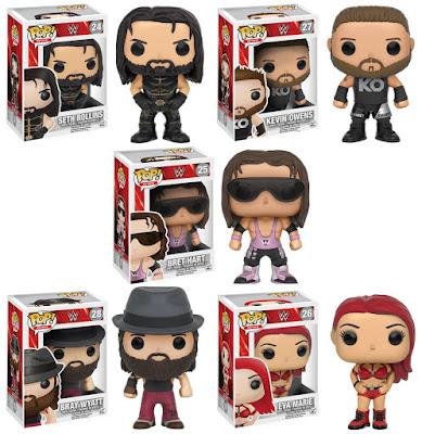 WWE Pop! Series 5 Vinyl Figures by Funko – Seth Rollins, Kevin Owens, Bret Hart, Bray Wyatt & Eva Marie