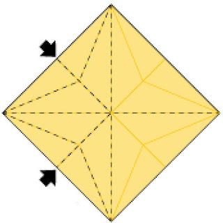 Bước 11: Từ vị trí 2 mũi tên ấn vào trong hướng lên trên