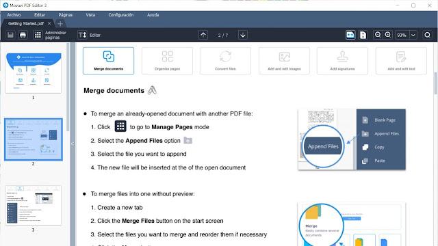 Movavi PDF Editor imagenes