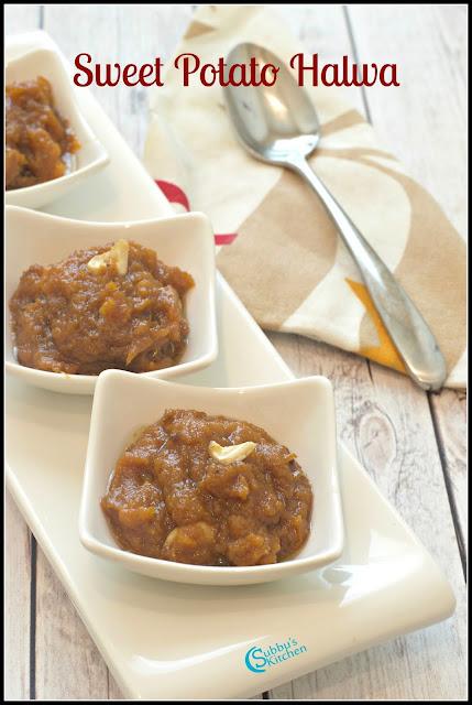 Sweet Potato Halwa Recipe   Sakkaraivellikizhangu Halwa Recipe