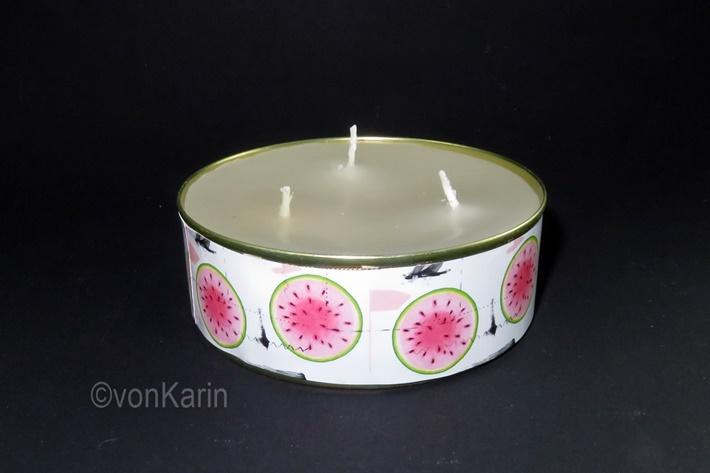Kerze in Konservendose gießen
