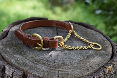 Martingale dog collar size small handmade on measure in Italy