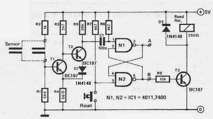Electronics Projects: Humidity detector circuit