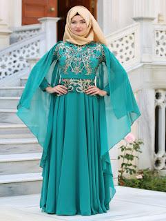 gaun pesta muslimah dian pelangi