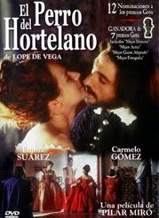 El cartel de la película muestra a los actores Emma Suarez y Gonzalo Gómez, en actitud amorosa, vestidos al modo del siglo XVII.