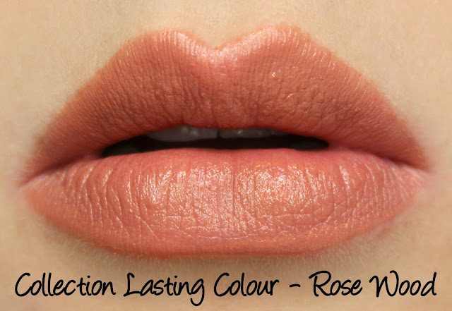 Collection Cosmetics Lasting Colour Lipstick - Rose Wood Swatches & Review