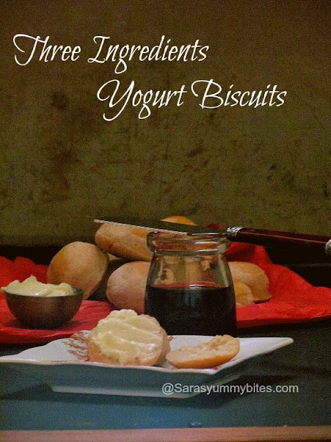 Three Ingredients Yogurt Biscuits