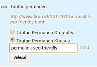 Cara membuat Permalink SEO Friendly Google
