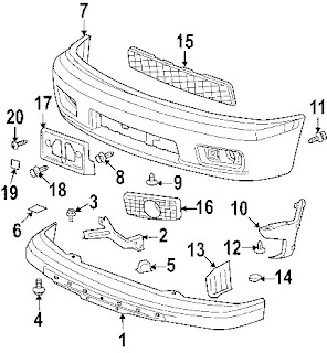 GMC Canyon 06 Front Bumper diagram