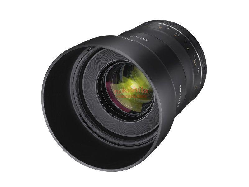 Samyang XP 50mm f/1.2, вид спереди