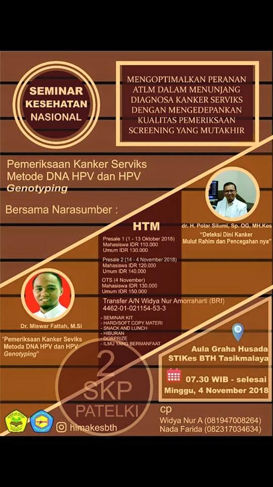 Seminar Nasional Analis Kesehatan 2018 | HIMAKES STIKes BTH Tasikmalaya ...