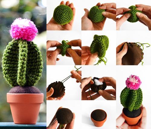 Cactus Amigurumi - Free Crochet Tutorial