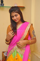Lucky Sree in dasling Pink Saree and Orange Choli DSC 0333 1600x1063.JPG
