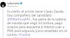 Barbosa se deslinda de Zavala
