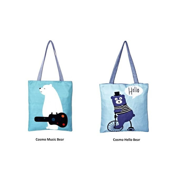 Motif Music Bear dan Hello Bear