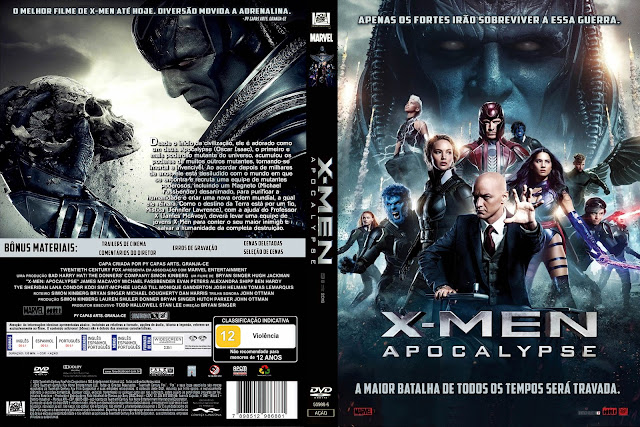 Capa DVD X-Men Apocalypse