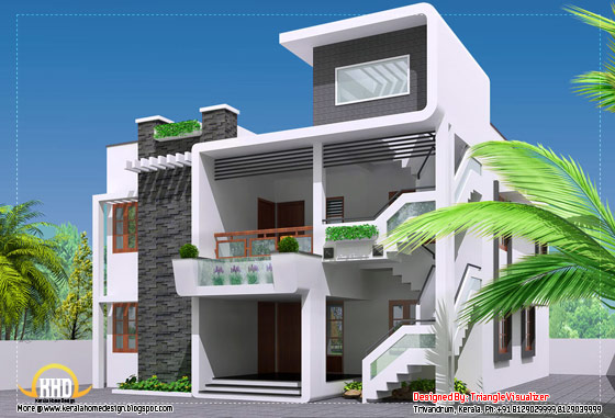 Modern contemporary home - 2364 Sq. Ft.(220 Sq. M.) (263 Square Yards) - March 2012